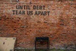 Unpaid debts can cause anxiety.