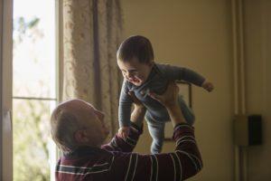 Babysitting grandchildren can improve your health.